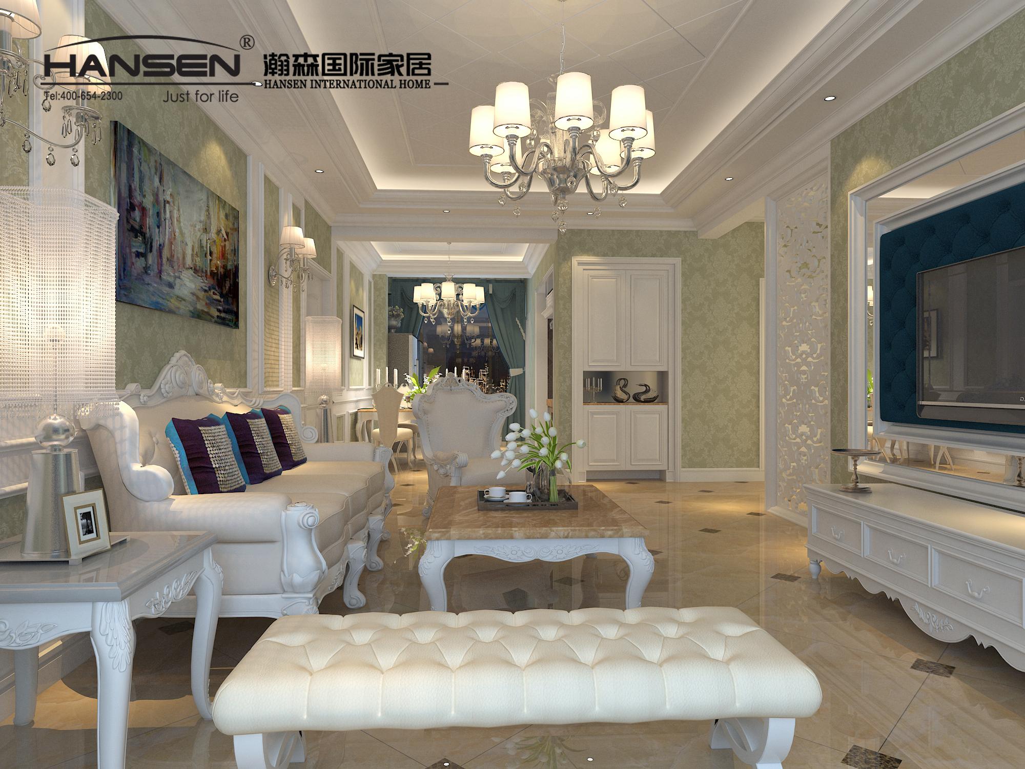 简欧风格就是简化了的欧式装修风格,也是住宅别墅装修最流行的风